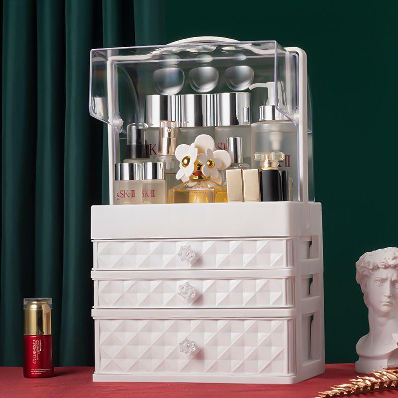 شفافة منظم سطح المكتب درج ماكياج المنظم الإبداعية صندوق تخزين مستحضرات التجميل المحمولة صندوق الجمال drop shipp سعة كبيرة