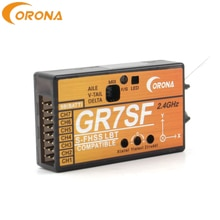 Corona GR7SF 2,4g 7CH S receptor de autobús con transmisor Compatible 3X Gyro Futaba S-FHSS T6J T8J 10J T14SG 16SZ para avión FPV