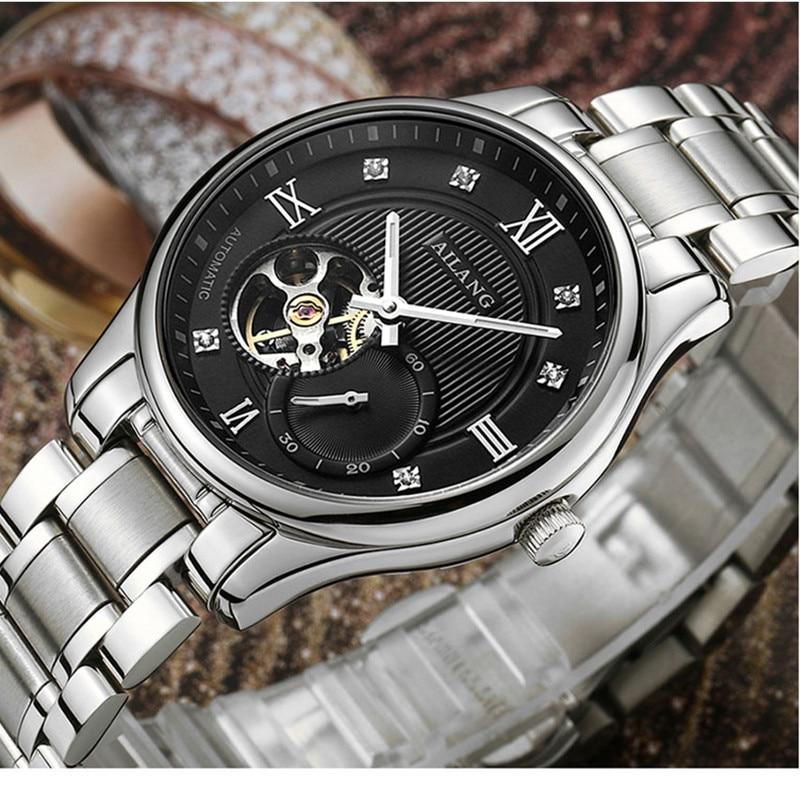 AILANG механические часы для мужчин, роскошные брендовые наручные часы, автоматические самокручивающиеся водонепроницаемые часы из нержавею...