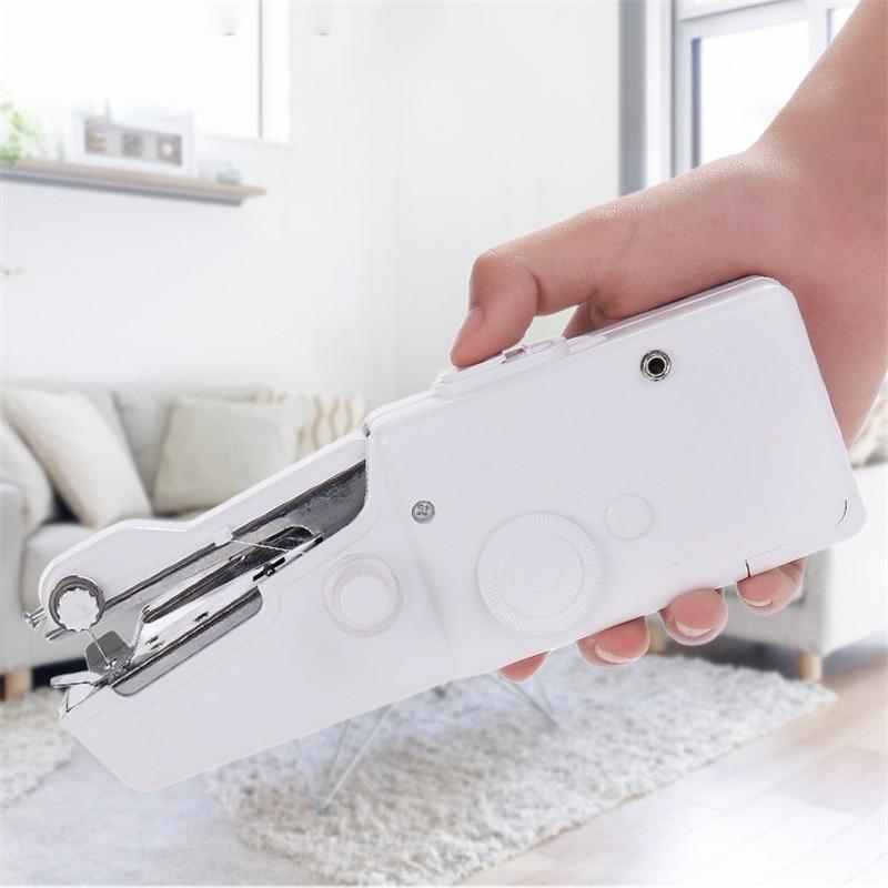 Портативная бытовая швейная машина быстрая строчка шитье Беспроводная одежда ткани Мини Электронная швейная машина
