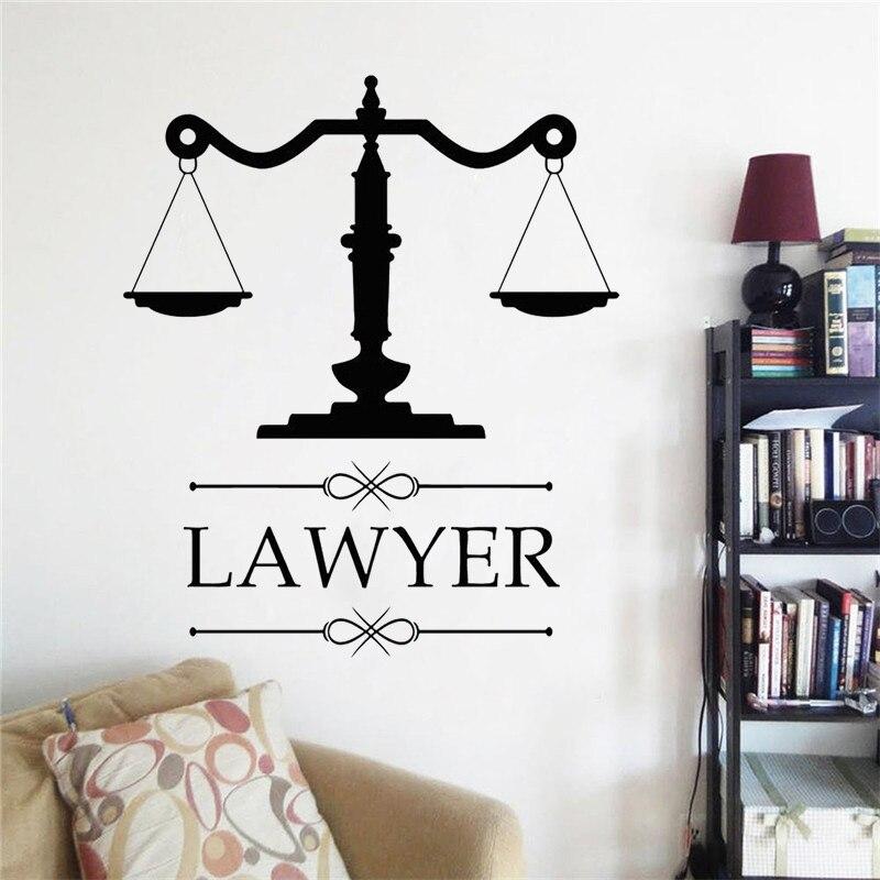 Обои для декора, логотип фирмы Law, Виниловая наклейка на стену, персональная наклейка, название компании Justice, украшение для окна