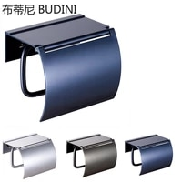 blue gold paint double paper holder wall mounted bathroom accessories phone rack toilet shelf space aluminum material