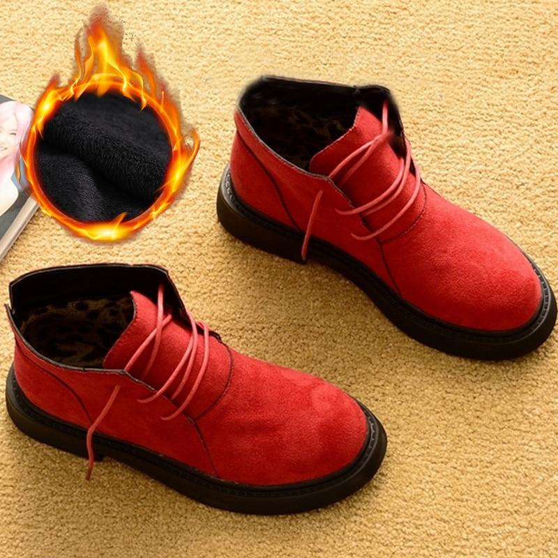 Nuevos zapatos de invierno de otoño para mujer botas de invierno zapatos de felpa calientes calzado de Invierno para mujer moda botas de tobillo botines de mujer
