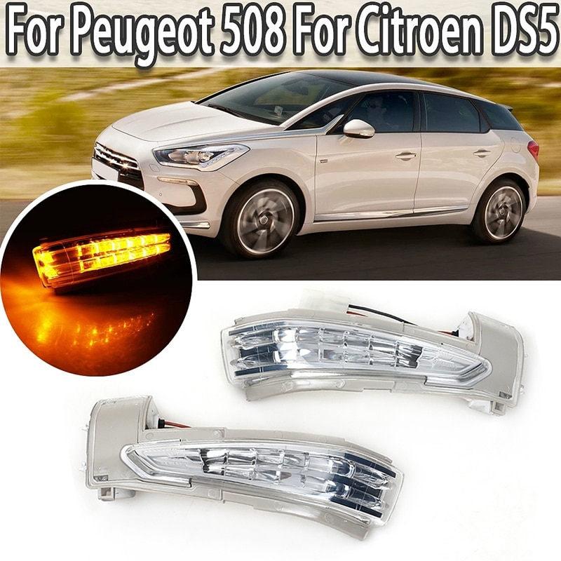 جديد-LED الجانب ماركر ضوء مرآة مؤشر بدوره مصباح إشارة لبيجو 508 2010-2017 لسيتروين DS5 C4 6325J4 6325J5