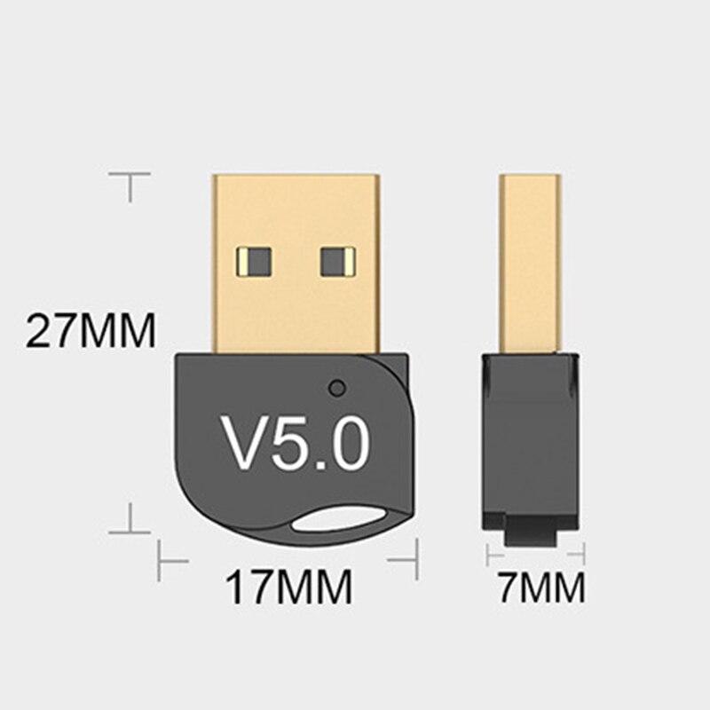 Nuevo adaptador inalámbrico bluetooth USB 5,0 receptor de audio bluetooth adaptador 5,0 para ordenador portátil receptor transmisor