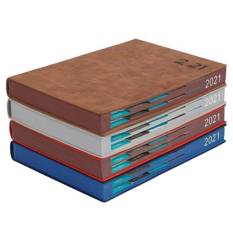 Notebook Books 2021 Schedule Plan 365 Days Daily Calendar Notepad Self-Discipline Punch Card Efficiency Libro Business Office