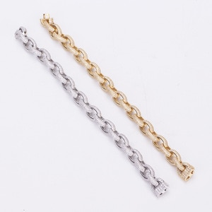Luxury fashion classic hip hop series copper zircon high quality Bracelet European African Party Gift L0543