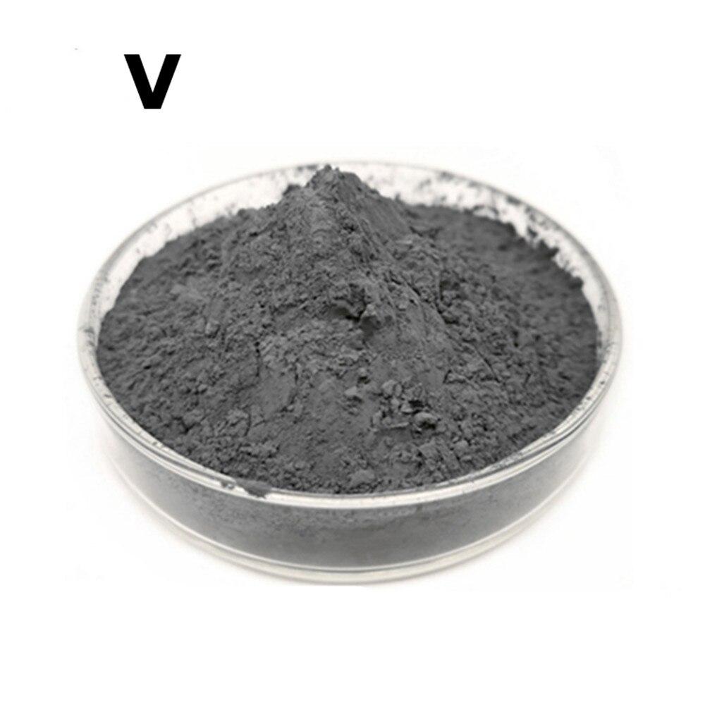 Ultrafino do Metal Grama do Elemento da Pesquisa e do Desenvolvimento 5n do pó do Vanádio para o pó Pureza Alta 99.999% 10