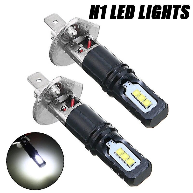 Для автомобильного освещения 1 пара H1 6000K 12V дальнего света Автомобильные фары 6000LM супер яркие белые светодиодные фары комплект ламп Mayitr