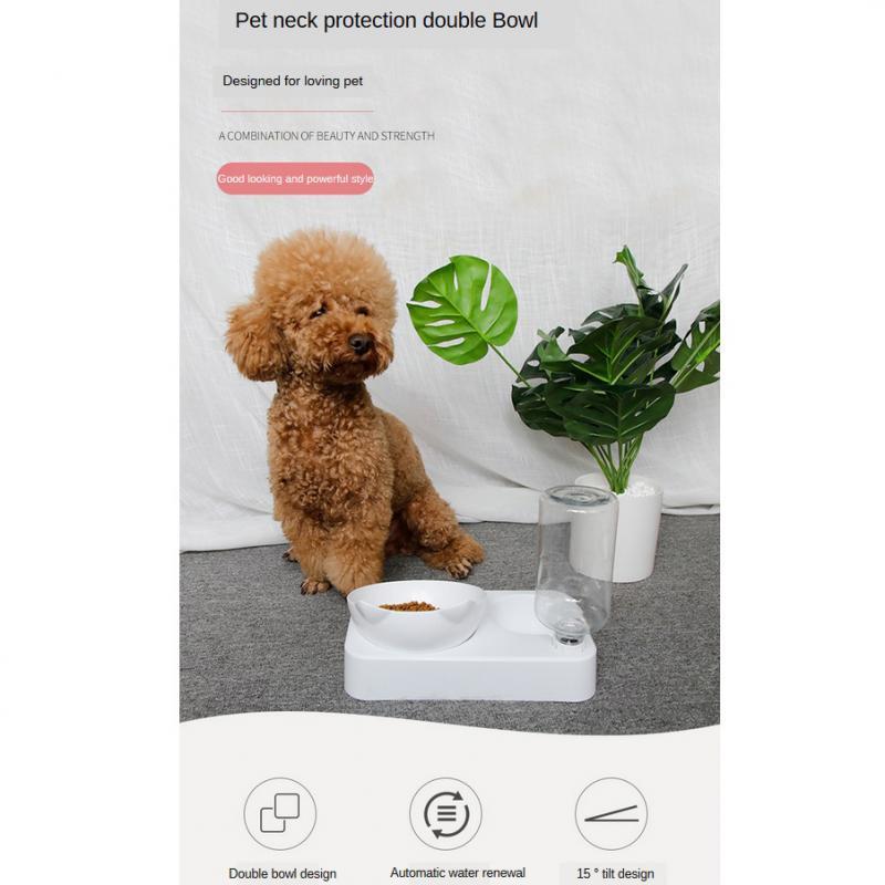 Tas manar ushqyes automatik qen ushqimi për mace me tas me ujë - Produkte për kafshet shtëpiake - Foto 3