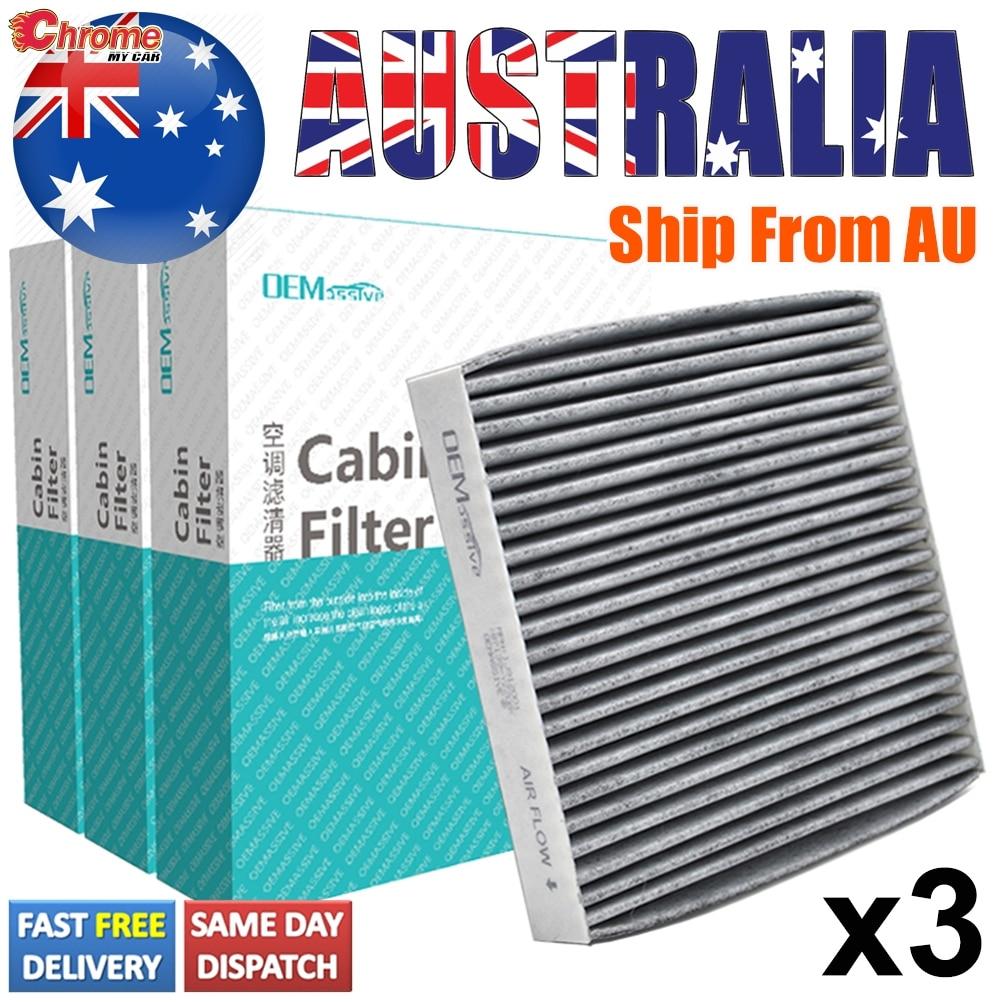 3x Cabin Aircon Filter For Toyota RAV4 Sienna Matrix Yaris Lexus CT ES IS LS RX 72880-AJ000 87139-52020 87139-06050 87139-YZZ08