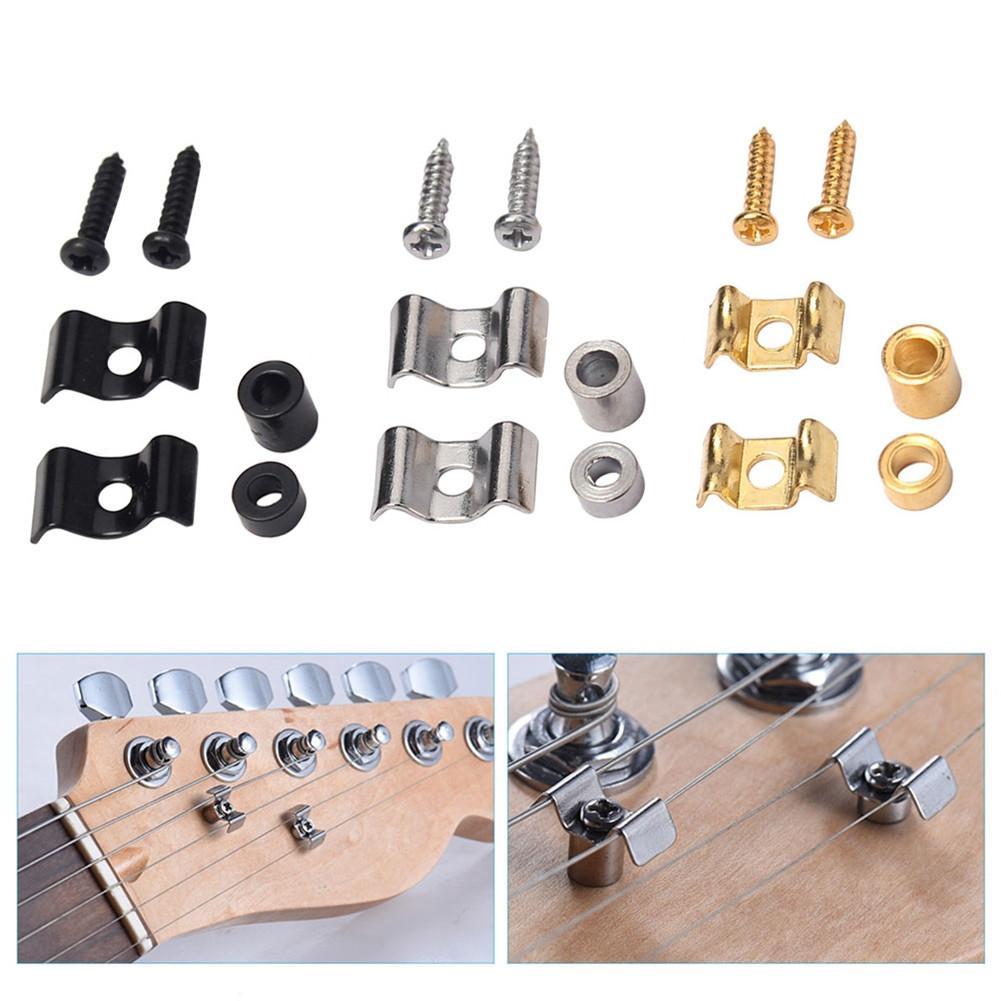 2 uds de Metal cuerda de guitarra electrica retenedor de hebilla soportes...