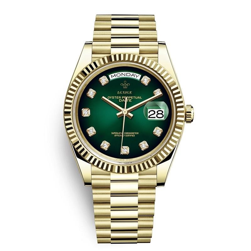 2019 новые модные часы мужские бриллианты 40 мм японские 21 ювелирные изделия MIYOTA движение из нержавеющей стали золотые мужские часы 3Bar наручные часы