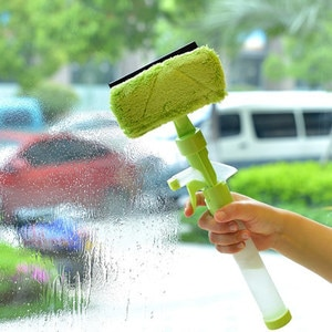 Multi Function Window Cleaner with Water Spray, Window Cleaner and Double Side Glass Cleaner Cleaning Tools