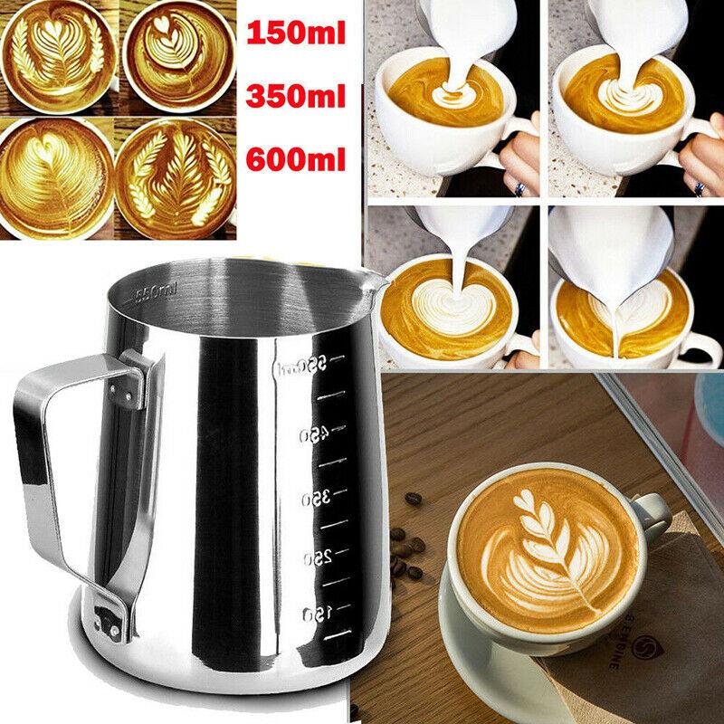 150/350/600ML Acero inoxidable leche artesanal café Latte Frothing Art jarra tazón taza Navidad Año Nuevo decoración grandes ventas