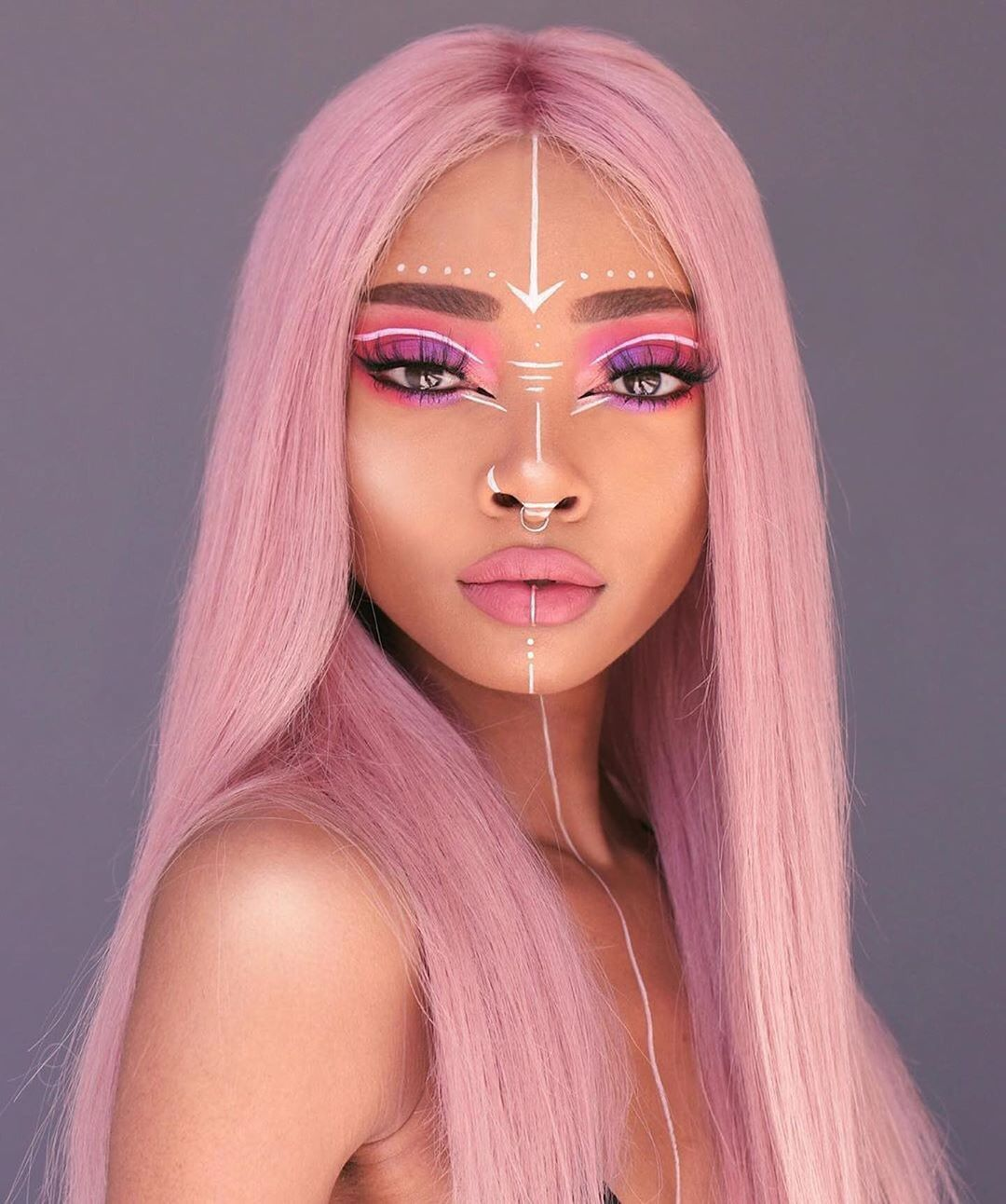 Pink Lace Front Wigs Brazilian Remy Human Hair Glueless Pre Plucked 180 Density