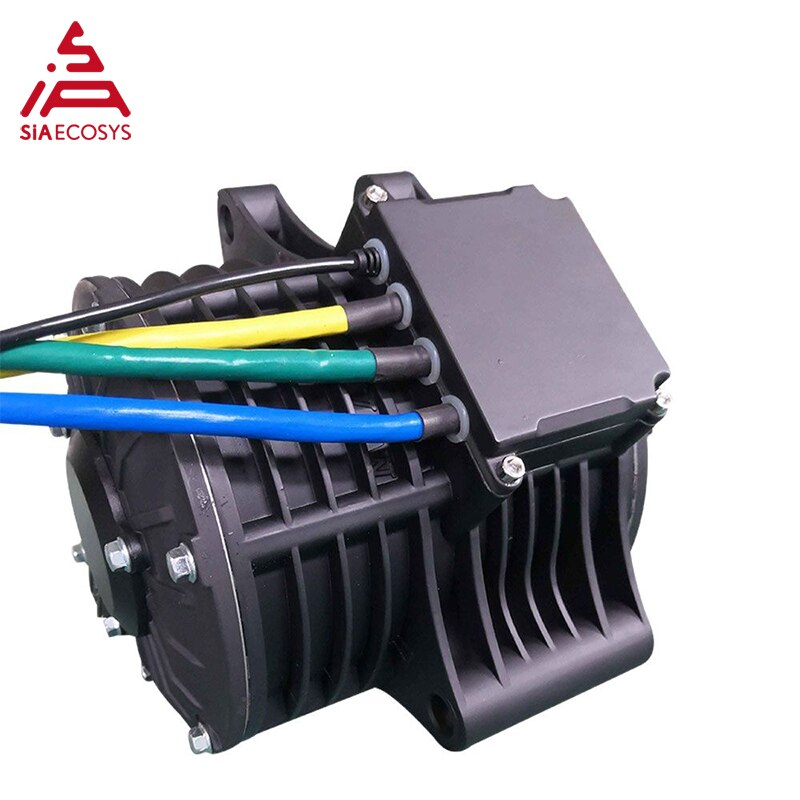 QS 138 3000W 72V 100KPH Mid drive motor power train kits with motor controller enlarge