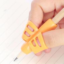 3 pièces Silicone aide à lécriture poignée pour enfants enfants apprentissage stylo crayon aide poignée enfants écriture Posture correcteur porte-crayons outils correcteur ecriture