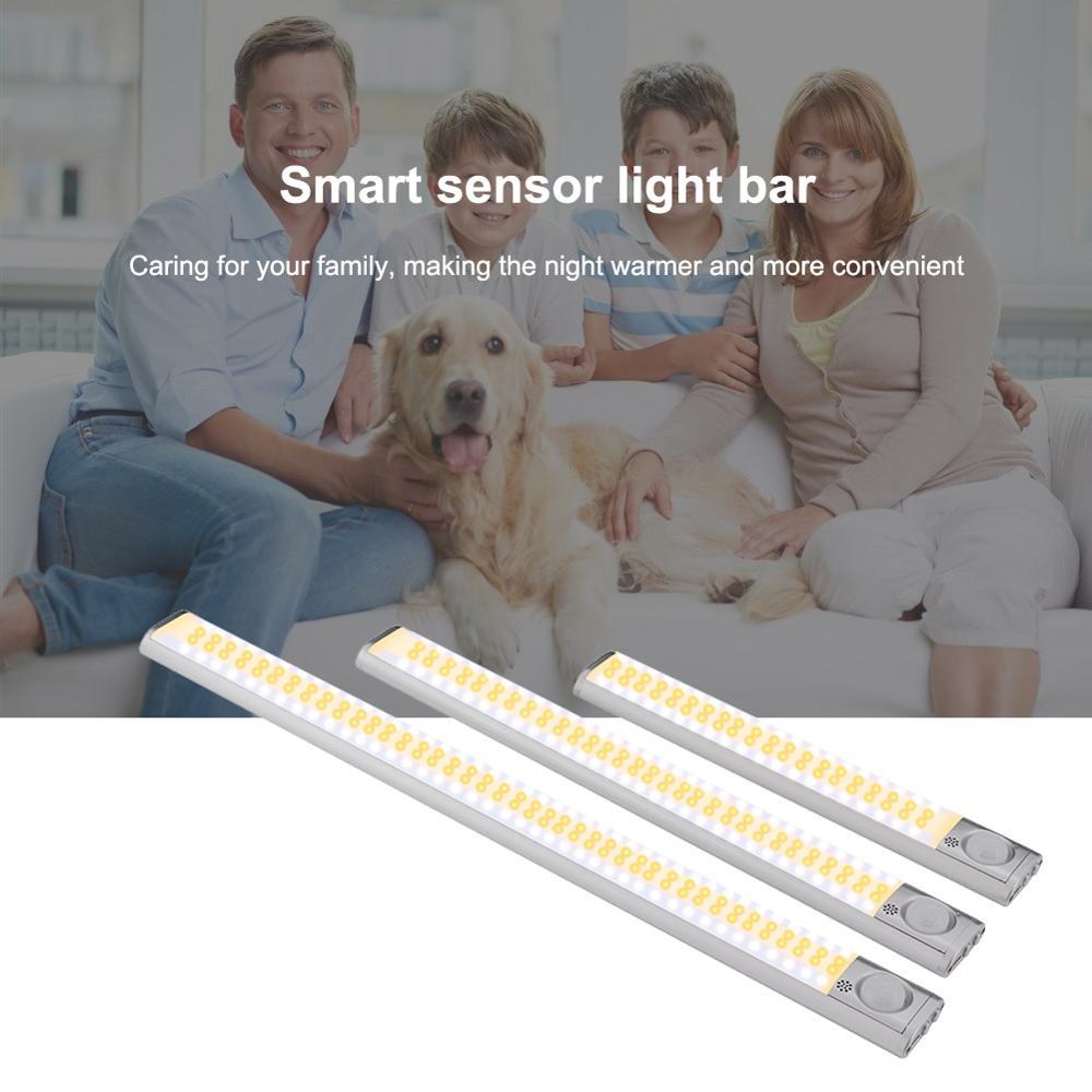 PIR Motion Sensor Light Night Lamp For Closet Cabinet Wardrobe Stairs Kitchen Bedroom Cabinet Backlight USB 160 LED Closet Light