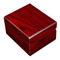 2 Pieces Single Slot Wood Watch Case Wristwatch Box Organizer Storage Holder
