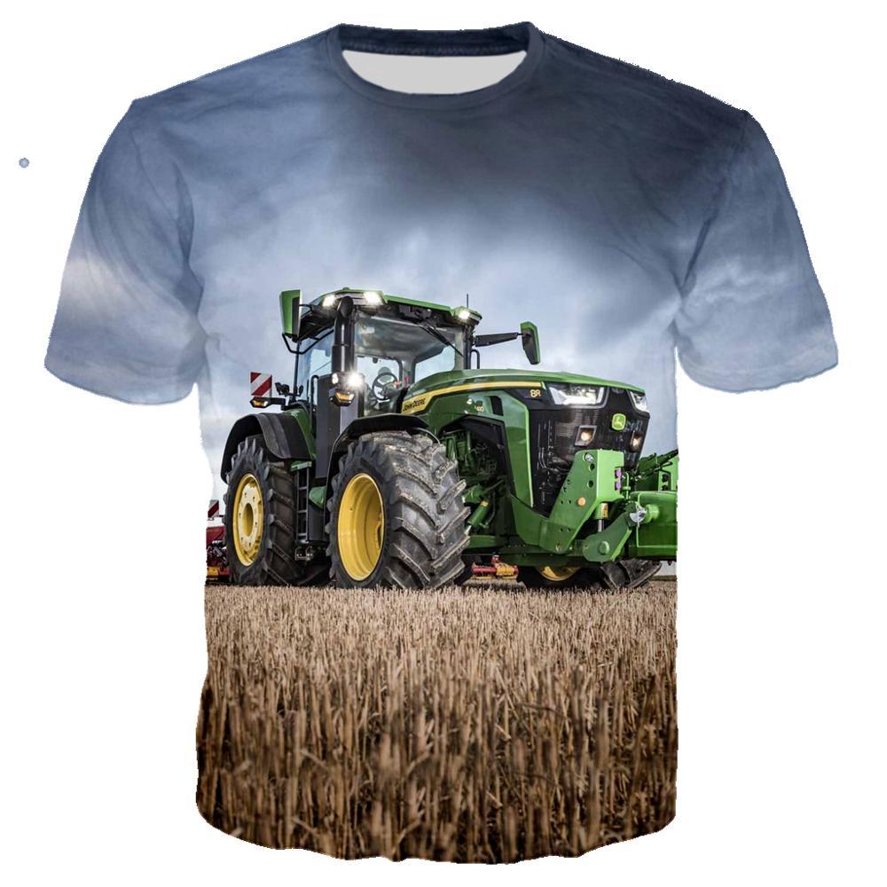 3D Print New Car Tractor T shirt Men Hip Hop Ropa Hombre Casual Streetwear Boy T-shirt Man Tshirt Tops Male Clothes Oversized