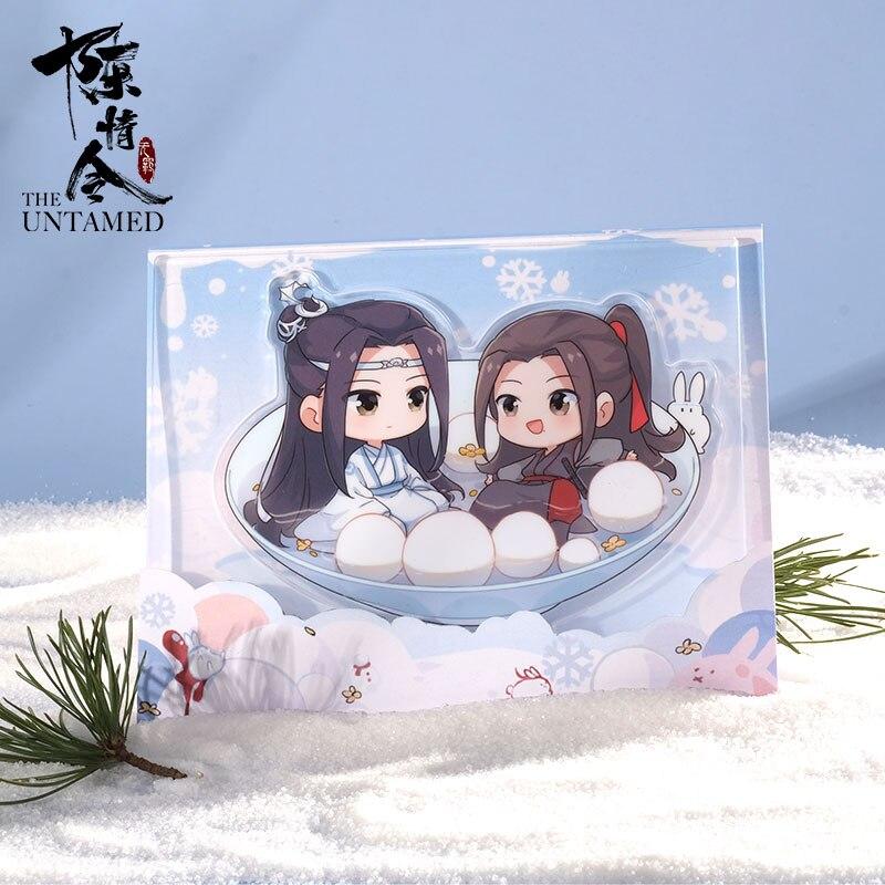 Anime grandmaster de cultivo demoníaco mdzs o undomed cartoon suporte figura modelo de acrílico placa decoração de mesa yibo xiao zhan