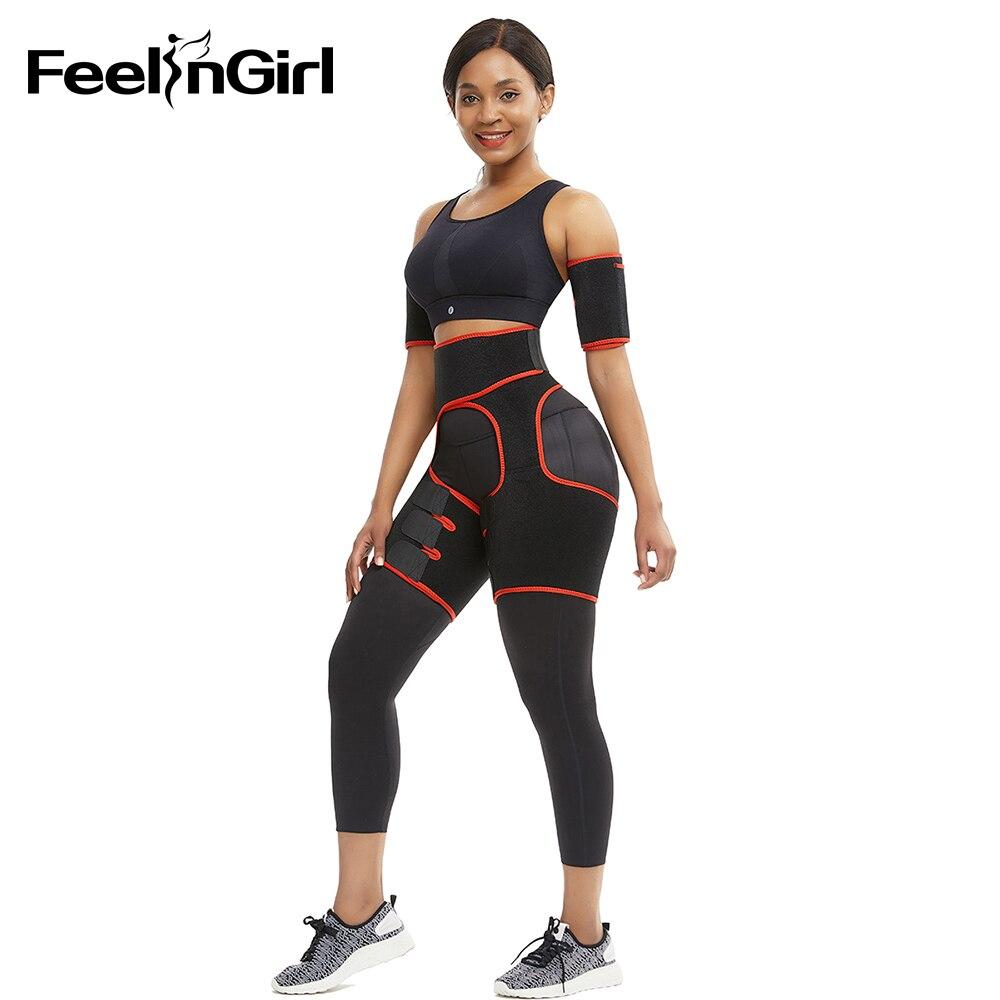 FeelinGirl Neoprene Thigh Shaper Sweat Thigh Trimmers Leg Shaper Arm Shaper 1 set Lose Weight Slimming Belt Butt Lifter Belt