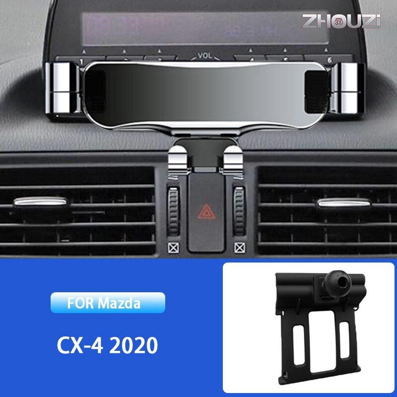 Автомобильный держатель для вентиляционных отверстий, GPS-навигатор, Гравитационный Кронштейн для Mazda мобильный телефон CX 4 CX4 2020, автомобиль...