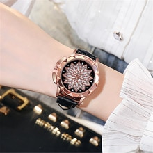New Women Fashion Quartz Watch Analog Ladies Casual Stainless Steel Dial Bracele Watch Leather Wrist