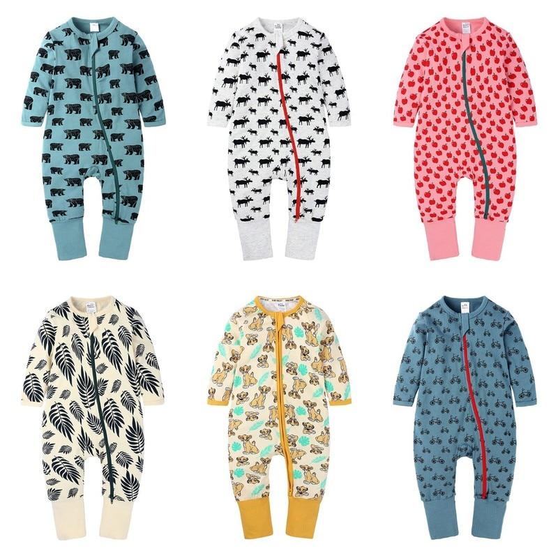 Children's Clothing Baby Onesies Boys and Girls Kids Romper Cartoon Lion Newborn Clothes Cotton Long