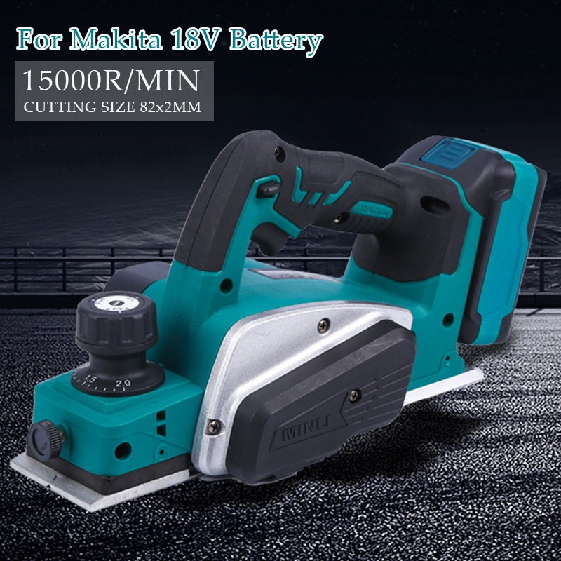 6 inch 1200w mini electric chain saw with battery indicator 128vf 388vf rechargeable woodworking tool for makita 18v battery 18V Rechargeable Electric Planer With Wrench Cordless Hand Tool Suitable Makita 18V Battery Woodworking Cutting Power15000rpm