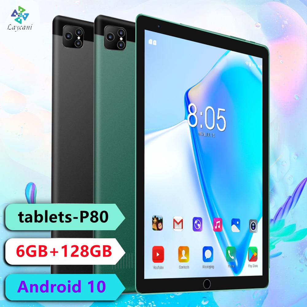 tablette 8 inch tablet P80 TABLET GRAPHIC 6GB+128GB TABLET WITH PEN 10 Core touch screen tablet andr