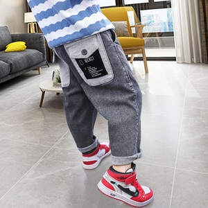 Kids jeans Boys Pants 2020 Spring Children Teenage Casual Trousers Autumn Loose Boy jeans Suitable for: 5-14 years
