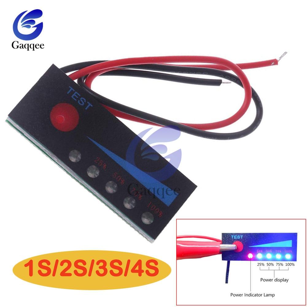 1S2S3S4S 12 В свинцово-кислотный аккумулятор 18650 Li-Ion Lipo литиевая батарея индикатор уровня тестер ЖК-дисплей измеритель емкости модуля