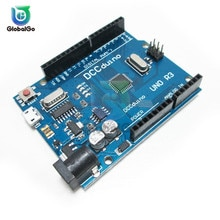 UNO R3 لوحة تطوير ATmega328P CH340 CH340G لـ Arduino UNO R3 مع رأس دبوس مستقيم المصغّر USB واجهة