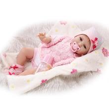 NPK vente chaude modèle infantile poupée modèle mignon réaliste doux silicone poupée fille cadeau jouer maison