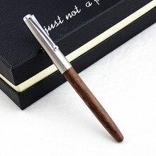 JINHAO 51A stylo plume en bois bouchon en acier neuf 0.38mm plume stylo à encre