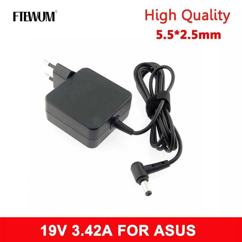 Fonte de Alimentação Adp-65dw para Asus Ftewum ue ac Carregador Portátil dc Adaptador X450 X550c X550v W519l X751 Y481c 19v 3.42a 65w 5.5*2.5mm
