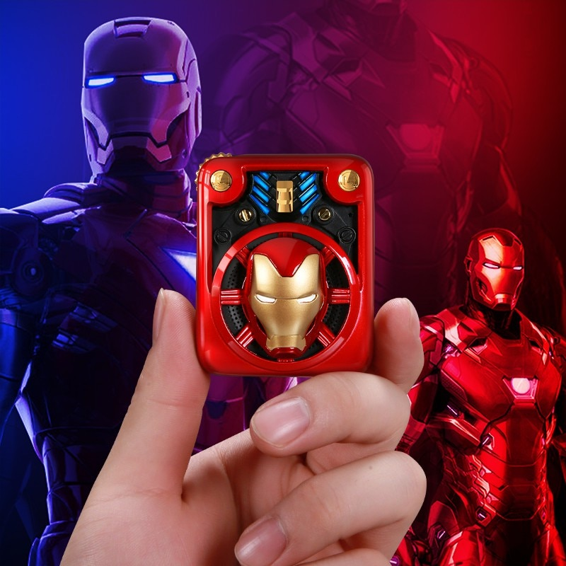 Disney Marvel Iron Man Wireless Speaker Portable Mini Outdoor Music Player Cool Mobile Phone Accessories enlarge
