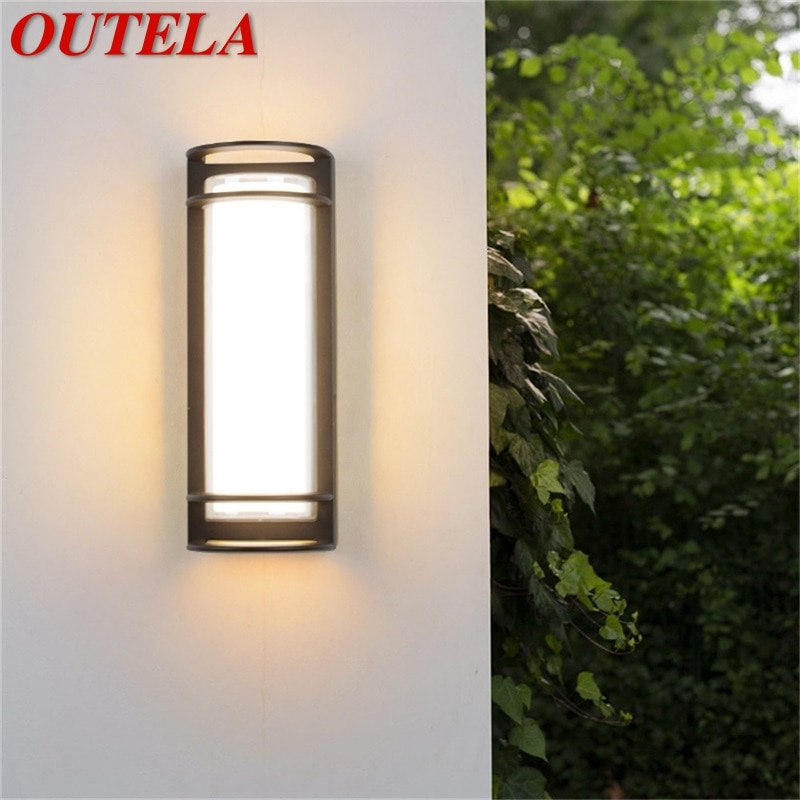 OUTELA Wall Sconces Light Outdoor Classical LED Lamp Waterproof IP65 Home Decorative For Porch Stairs