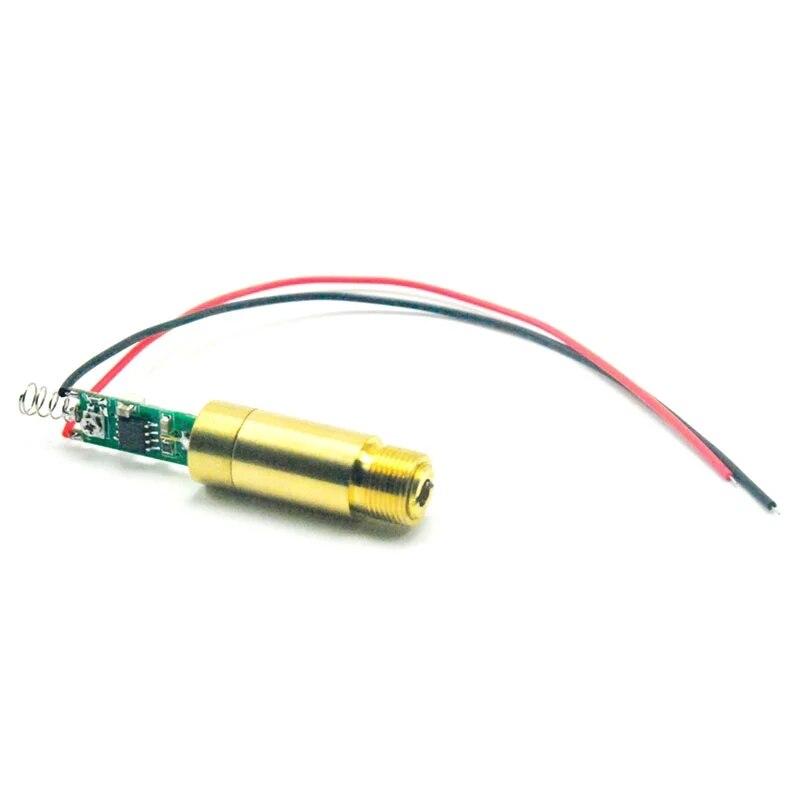 Промышленный APC 450 нм 100 МВт синий лазер точка модуль 12 мм латунь корпус 3,7-4,2 В