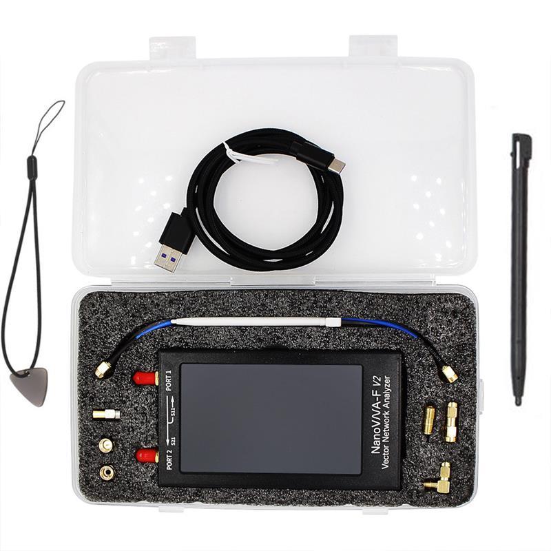 Nanovna-F V2-Analizador De rojo Vector De Analizador De Antena V2 Con Pantalla...