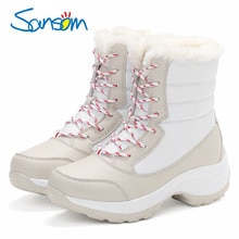 Classic Comfort Women Boots Waterproof Winter Shoes Women Snow Boots Platform Keep Warm Wedges Ankle