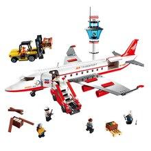 Gudi עיר גדול נוסע מטוס מטוסי דגם בניין בלוקים לבני פעולה דמויות בורא צעצועים לילדים