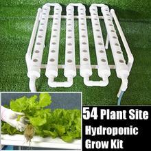 Набор для выращивания гидропонных труб, 54 отверстия, глубокая вода, коробка для посадки, садовая система, питомник, гидропонная стойка, 220 В