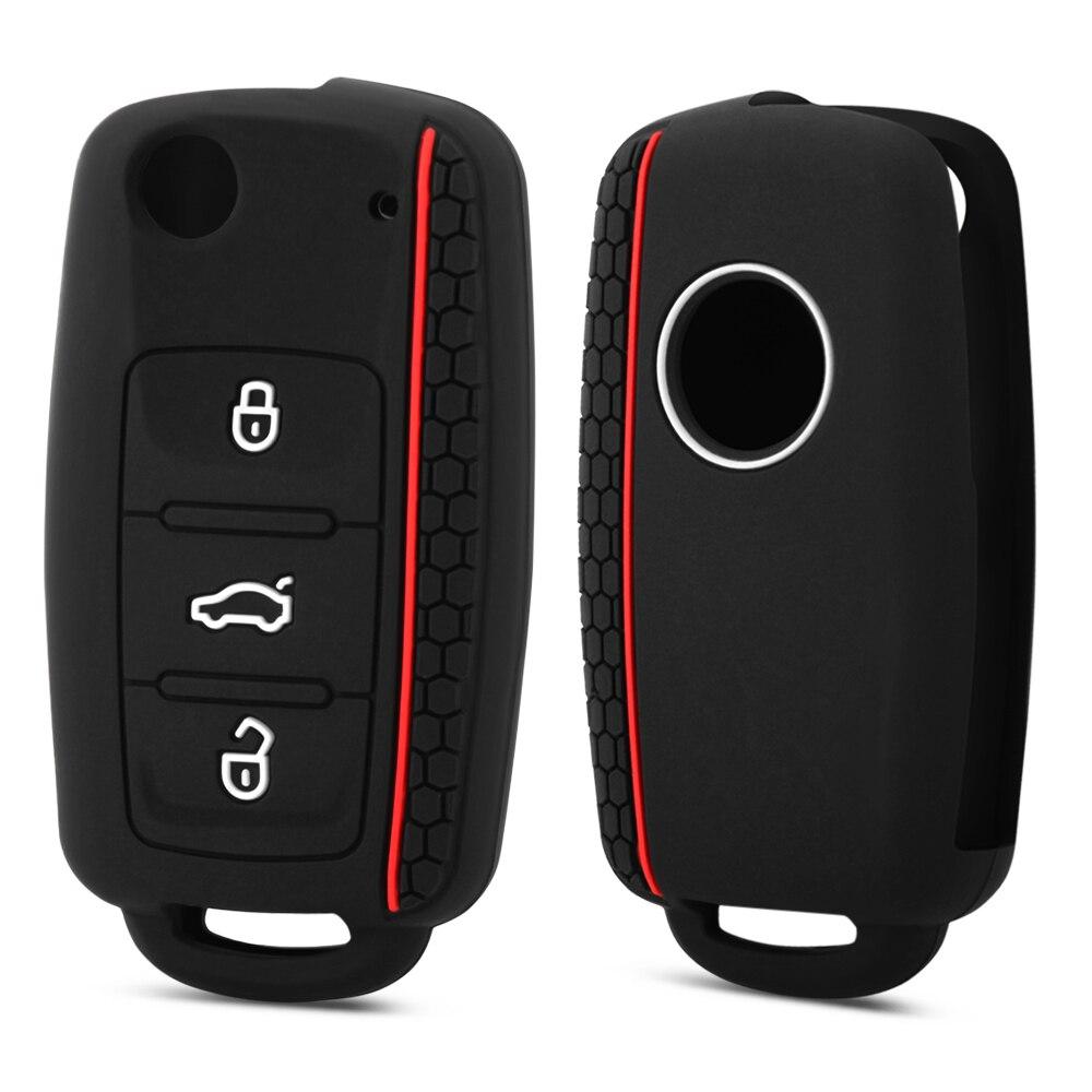 Силиконовый чехол с 3 кнопками для автомобильного ключа, чехол для VW Ibiza Bora Jetta POLO GOLF Passat leon POLO A5 Fabia для SEAT Ibiza Leon