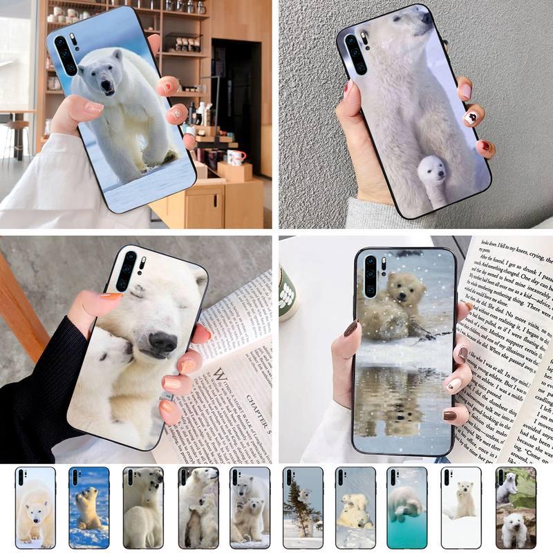 Funda de teléfono Original de Pequeño Oso Polar para Huawei P10Plus P20Lite2019 P10 P20 P20Pro P30 Psmart2019 P8 P11, fundas negras de TpuCoque