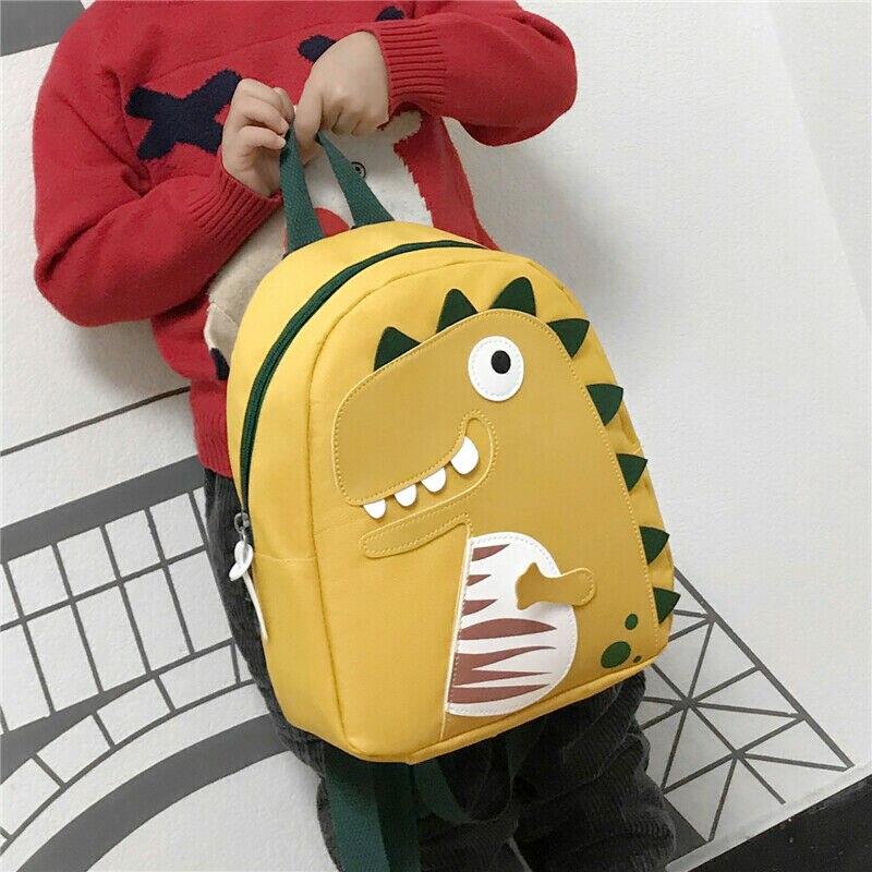 Novedad de 2020, mochila de dinosaurios de dibujos animados para niños pequeños, mochila escolar para niños y niñas, mochila para guardería