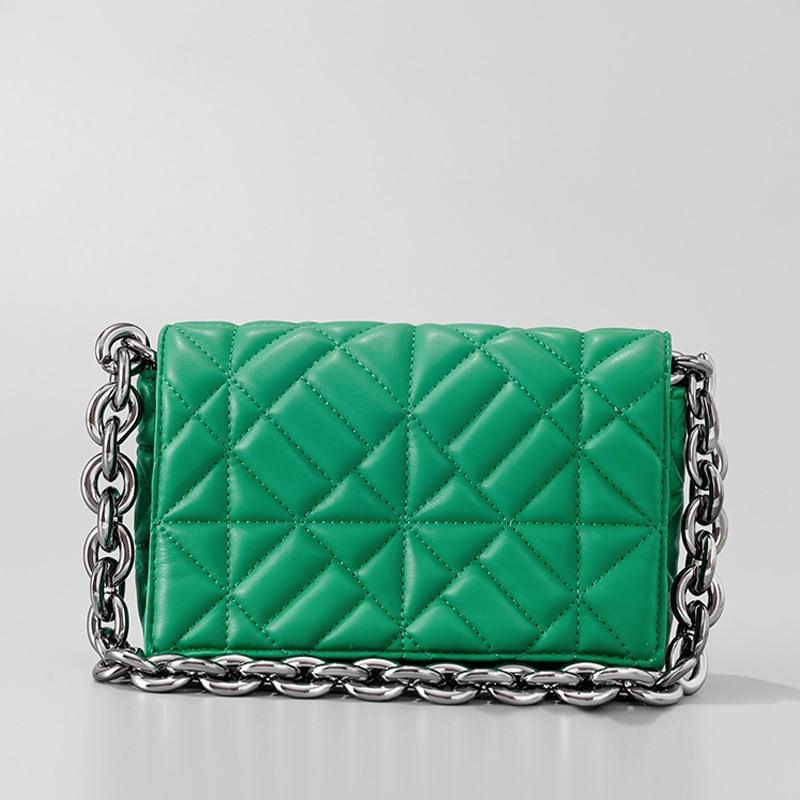 Luxury Brand Shoulder Bag for Women 2021 Soft Pu Leather Chain Armpit Retro Shoulder Small Square Ba