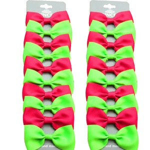 20PCS/Lot Lovely Rose and Green Hairpins Grosgrain Ribbon Bows Clips 2020 Korean Creativity Hair Accessories For Baby Girls NEW